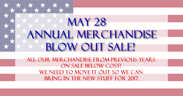 memorial day blow out sale